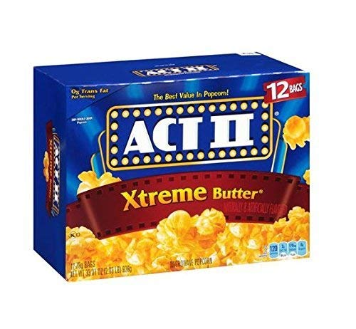 Act Ii Xtreme Butter Microwave Popcorn - 12 Bag Box 33.01 Oz