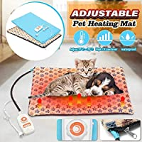 加熱パッド、加熱パッド電気ヒーター防水調節可能な加熱マット犬猫ペット加熱パッドベッド毛布冬加熱グローブカーペット10レベル40x60cm