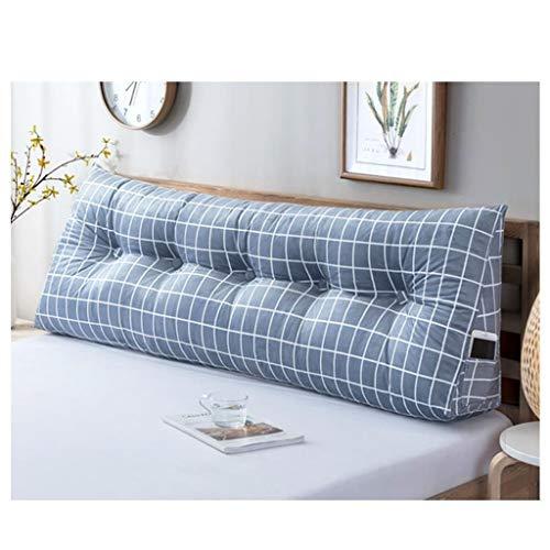 DNN - Cojín triangular con cabeza de cuña para lectura, almohada para sofá, ventana, almohada larga y suave y cómodo, lavable (tamaño: 120 x 50 cm)