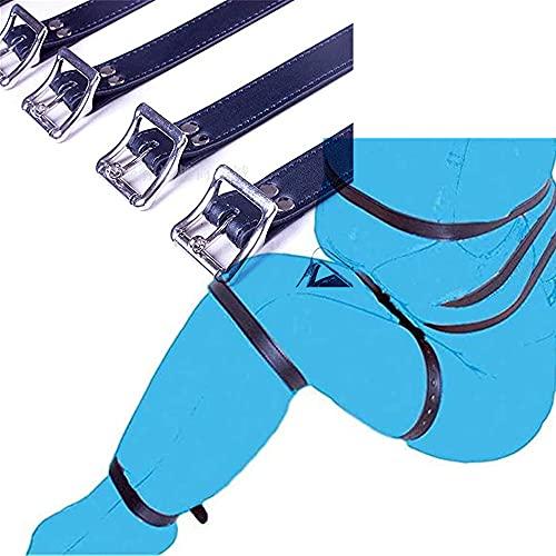Ajustable 1 juego de 7 correas Correas de muslo Puños de tobillo para piernas acolchadas de fitness Envuélvase por todas partes