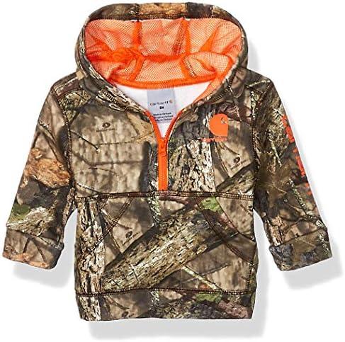 Carhartt Baby Boys Hooded Half Zip Sweatshirt Mossy Oak 219 6 Months product image
