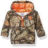 Carhartt Baby Boys Hooded Half Zip Sweatshirt, Mossy Oak 219, 6M