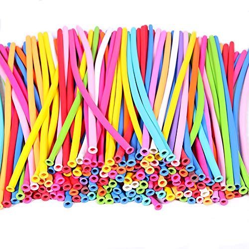 100pcs Long Candy Colored Magic Balloons