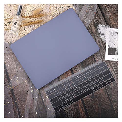 WSGYX Leather/Cloth Case for Macbook Air 13 A2338 M1 A2179 A2337 A1932 Pro 13 15 A2159 A1466 A1708 Hard Cover+Keyboard Cover (Color : Navy grey, Size : 12 inch A1534)