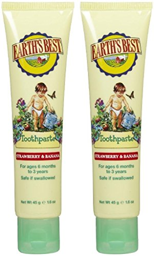 Earth's Best by Jason Toothpaste - Strawberry & Banana - 1.6 oz - 2 pk