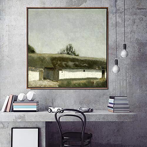 wZUN Decoración para el hogar impresión en Lienzo Arte Cuadro de Pared Cartel Lienzo impresión Pintura Cuadrada Dinamarca 50x50 Sin Marco