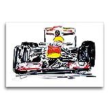CALVENDO Premium Textil-Leinwand 75 x 50 cm Quer-Format Illustration Red Bull RB 8, Leinwanddruck von Gerhard Kraus