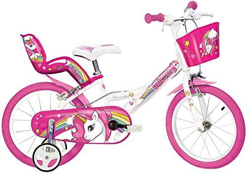 """Dino Bikes 164R-UN bicicletta Ciudad 40,6 cm (16"""") Acero Rosa, Blanco Niñas - Bicicleta (Vertical, Ciudad, 40,6 cm (16""""), Acero, Rosa, Blanco, 40,6 cm (16""""))"""