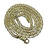 Cadena de Oro Amarillo de 18k de Oro Macizo para Hombre, de eslabones Tipo Ancla de 4mm de Ancho y 60cm de Larga. Cierre mosquetón Grande para máxima Seguridad. Peso; 18.85gr de Oro de 18k