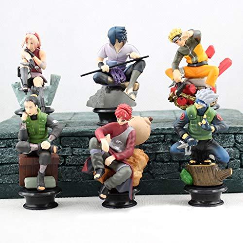 Estatua de Juguete Modelo de Juguete Naruto Exquisito Anime Decoración Decoración/Edición de ajedrez / 6 Juegos SYFO
