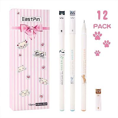 Cute Cat Pens, 12 Pcs Japanese Kawaii Cute Cat ...