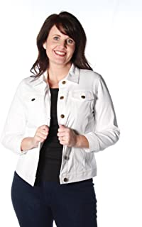 Ruby Rd. Women's Plus Size Button-Front Stretch Knitted Twill Jacket