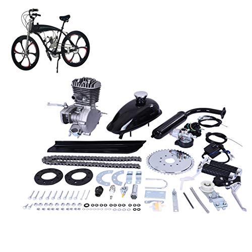 26 inch Electric Mountain Bike, Gas Powered Motorized Bicycles, New DIY Complete 80CC 2-Stroke Motorized Bike Kit (Black)