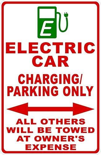 Señal de advertencia para coche eléctrico, solo carga de aparcamiento, todos los...