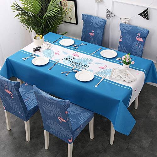 YOUYUANF Impermeabile Nordic Piccolo Tessuto Fresco Arredamento Tovaglia Tovaglia Tavolo e sedie Set Elastico all Inclusive Soggiorno Copertura della Sedia dell'hotel