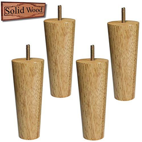 Sopicoz Furniture Legs Replacement Natural Wood Legs for Sofa Couch Cabinet Cube Storage Organizer Set of 4