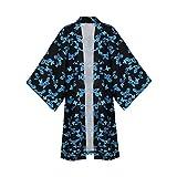 Demon Slayer Cosplay Costume Ubuyashiki Amane Cosplay Kimono Outfit Cape Cloak Robe (XL, Black)