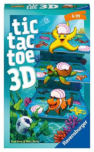 Ravensburger Mitbringspiele 20544 - Tic Tac Toe 3D , Glücks- und Taktikspiel ab 6 Jahren