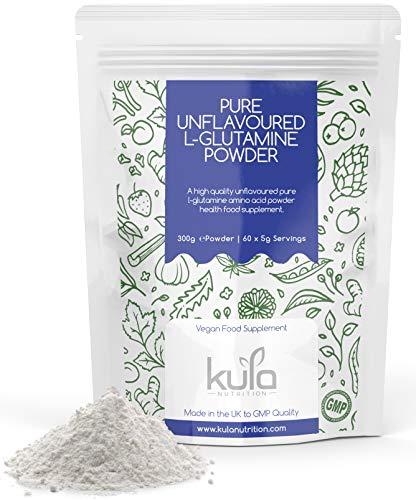 Kula Nutrition Pure L Glutamin Powder - 300g (60 Portionen) - Aminosäurepulver, ProteinBausteine - Ergänzung zur Muskelreparatur & Wiederherstellung gut Gesundheit (Geschmacklos)