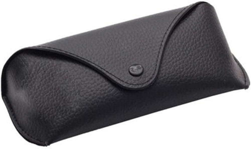 Powerfulline Portable Unisex Faux Leather Eye Glasses Sunglasses Holder Box Case Cover