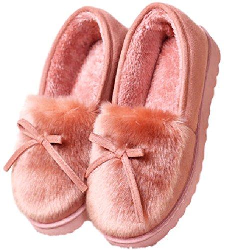 [ココマリ] ふわふわ ルーム シューズ 室内 履き スリッパ 防寒 レディース (S(22.0-22.5cm), ピンク)