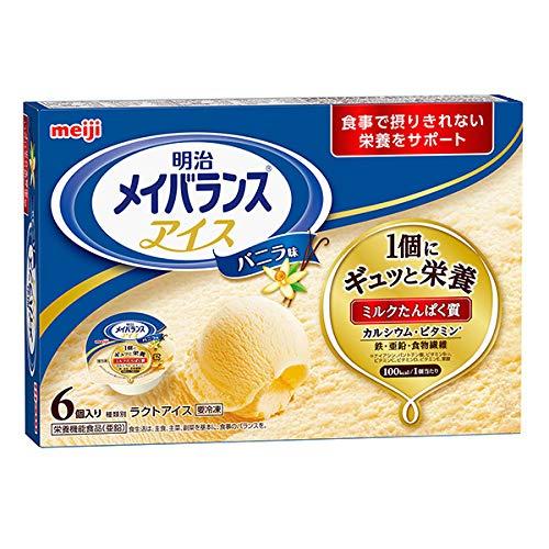 【冷凍栄養強化食】明治メイバランスアイス バニラ味 80ml×6個 アイスクリーム