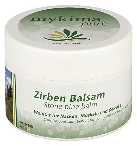 mykima Zirben Balsam 200ml für Nacken, Muskeln,Gelenke und ideal bei Erkältungsbeschwerden oder Einschlafstörungen