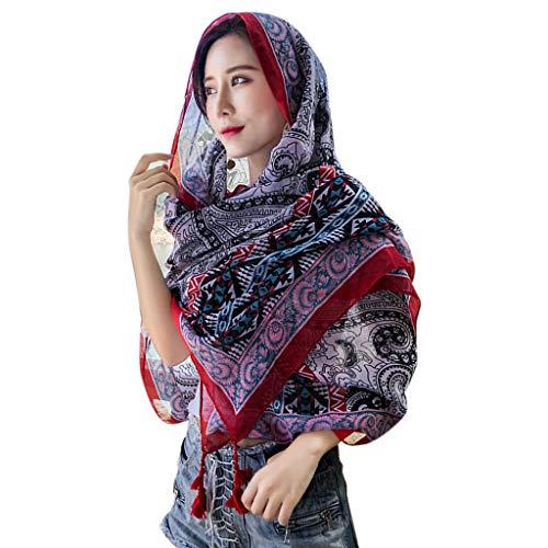 Anjuley - 22 colores para mujer nepala, estilo vintage, viajes, viento, bufanda...
