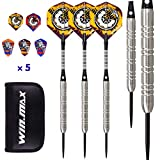 WIN.MAX Darts, Tungsten Steel Tip Set 24/22 Grams 90% 80% Tungsten (80% Tungsten 22 Grams)