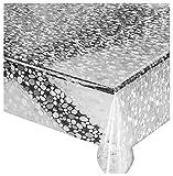 emmevi Tovaglia Trasparente Antimacchia Varie Misure Plastificata PVC Copri Proteggi Tavolo su Misura Protettiva MOD.Lux (F) 140X140