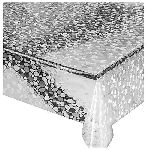 Taglio Tovaglia in plastica 140x200 sassolino trasparente