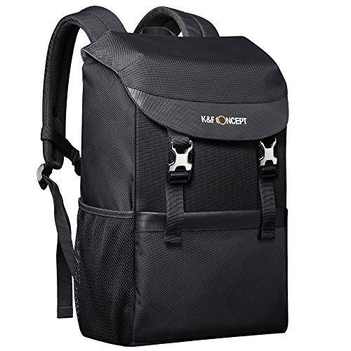 K&F Concept Mochila Impermeable para C¨¢mara Lentes Objetivos con Compartimento para Port¨¢til Laptop?15.6¡± Mochila port¨¢til para DSLR (20 litros)