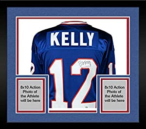 Framed Jim Kelly Buffalo Bills Autographed Blue Mitchell & Ness 1994 Authentic Jersey - Fanatics Authentic Certified