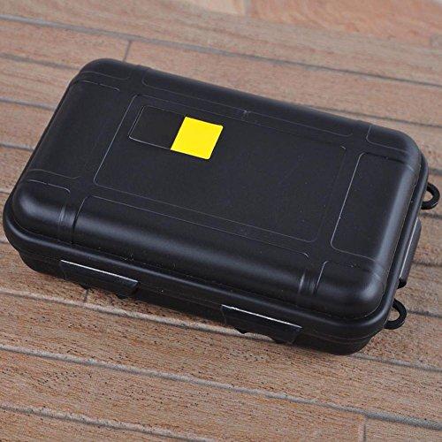 Tyrrrdtrd Boîte de rangement étanche à l'eau et aux chocs S Noir
