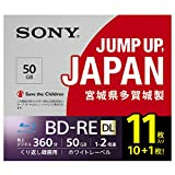 ソニー ビデオ用ブルーレイディスク 11BNE2VPPS2 (BD-RE 2層 50GB 2倍速 10枚+1枚の増量パック)
