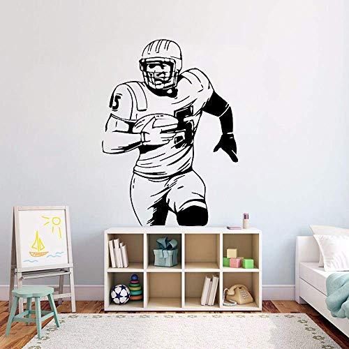 American Football Wand Vinyl Aufkleber Ball Sport Aktivität Wandtattoo Kinderzimmer Dekor Abnehmbare Fußballspieler Wandbild 42x58cm