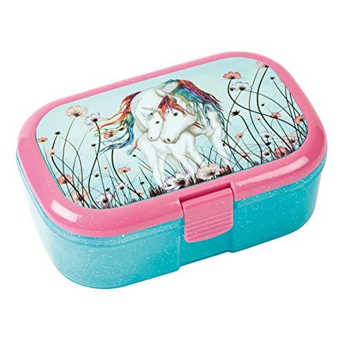 Glitzer-Lunchbox * LUNABELLE EINHORN mit FOHLEN * für Kinder von Lutz Mauder | 10655 | Perfekt für Unicorn Party