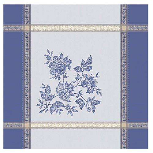 Serviette jacquard caprice bleu ecru 50cmx50cm
