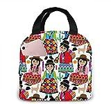 Bolsa de almuerzo para niñas bolivianas para mujeres, niñas, niños, bolsa de Picnic con aislamiento, bolsa térmica para enfriar Bento, bolsa grande para preparación de comidas, bonita bolsa