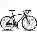 I-eJS Vélo de Route en Alliage d'aluminium, poignée Droite 21 Vitesses (adapté à la Course sur Route), Ultra léger,whitered