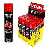 Neon 5X Ultra Refined Butane Fuel Lighter Refill Gas (12 Pack)