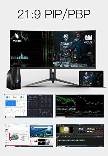 HKC21:9ゲーミングモニター34インチ4KウルトラワイドVA曲面R15004MS/100HZ/FreeSync/DVI/HDMI/DP…