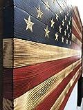 Handcarved Wood American Flag Wall Art Décor | LARGE, X-LARGE, or JUMBO | Rustic Handmade, Wooden Flag, Wood Art, Wall Art