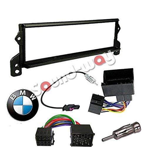 Sound-way 1 DIN Radiopaneel Frame Autoradio, Antenne Adapter, ISO Aansluitkabel, ondersteuning voor BMW Mini Cooper