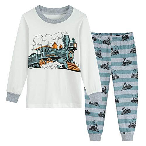 Zug Schlafanzug Lang Jungen Feuerwehr Zweiteiliger Nachtwäsche Baumwolle Pjs Kinder Pyjama Sets Langarm Ärmel Pyjama Herbst Winter 92 98 104 110 116 122