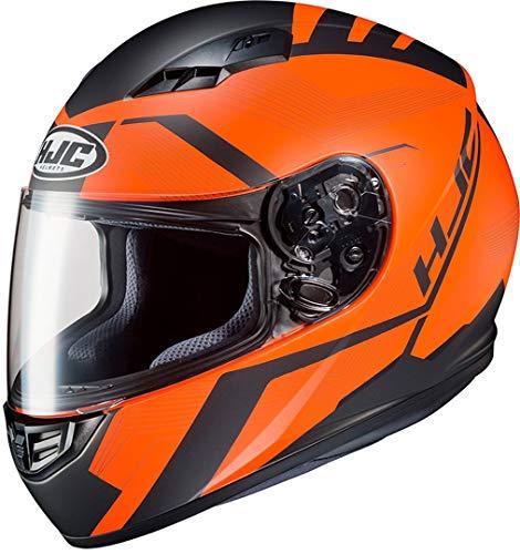 Casco de moto HJC CS 15 FAREN MC7SF, Negro/Oroange, XS