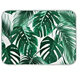 Palm Tree Tropical Green Dish Drying Mat XL Kitchen Microfiber Mat 18x24 Absorbent Reversible
