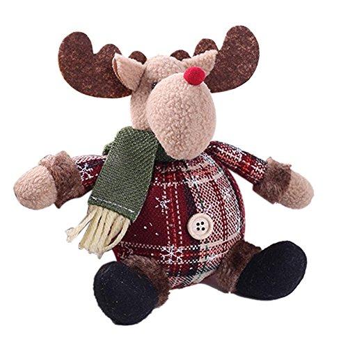 Welltobuy - Decorazioni natalizie a forma di pupazzo di neve seduto ornamento natalizio gambe lunghe tavolo camino decorazione per la casa C