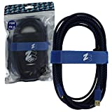 ZedLabz Ultra 5M braided charging cable for Sony PS4 controllers - gold plated flush fit extra long USB play & charge cable lead – Includes tidy and drawstring storage bag