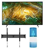 Sony XBR-85X800H 85' 4K Ultra High Definition HDR Android Smart LED TV with a Walts TV Large/Extra Large Tilt Mount for 43'-90' Compatible TV's and Walts HDTV Screen Cleaner Kit (2020)